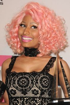 Nicki Minaj's Ever-Changing Beauty Look: Our 10 Favorite Moments Nikki Manaj, Bad Barbie, Celebrity Beauty, Pastel Hair, Bubblegum Pink, Pretty Pastel, Celebs, Celebrities, Celebrity Dresses