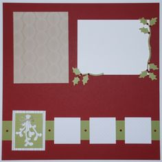 November 2015 - My Paper Pumpkin - Mistletoe & Holly - Right Scrapbook Page: See my blog for supplies and measurements.