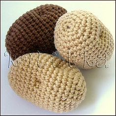 pattern for crochet potatoes | crochet potatoes (OlinoHobby) Tags: food vegetables fruit toys acrylic ...