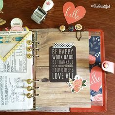 theresetgirl: Another divider I love in my new fall planner made for the Creative Holiday Planner Workshop (link in bio). I used a lot of the new Jen Hadfield collection to create this lovely fall look. I absolutely love using quote cards to embellish my dividers and dashboard in my planners - they are such a simple way to give you decorating impact!