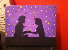 Disney Painting, Tangled, DIY