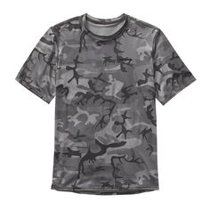 PATAGONIA M's RØ® Sun Tee, Forest Camo: Forge Grey w/Black (FCFB)