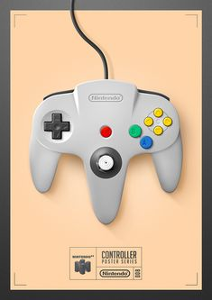 Controller Poster Series - Nintendo 64 by Quentin Fevre