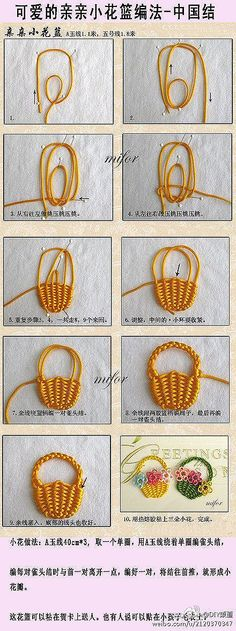 Canastico de nudos Knots Bag - Tutorial ~~ don't understand the words, but the picture tutorial seems easy enough to follow.