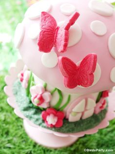 Pixie Fairy Birthday Party: Step-by-Step on How to Make a Toadstool Birthday Cake! by Bird's Party