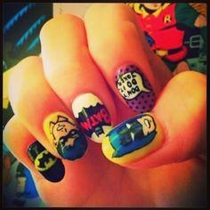 Super Hero nail art! #vintage #retro #fashion #comics