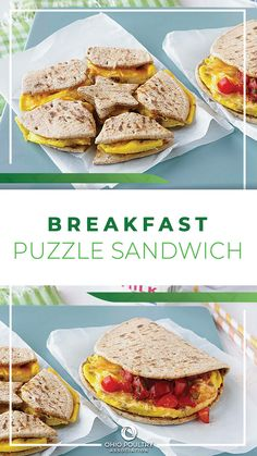Go ahead, play with your food! This easy breakfast sandwich is packed with protein to keep students full and sharp until lunchtime.