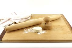 French Rolling Pin and Biscuit Cutter Gift Set Kitchen and Gourmet | WoodExpressions - Housewares on ArtFire