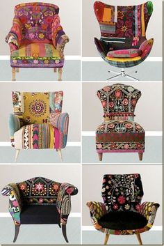 You could do this with our stunning upholstery fabric samples! Gloucestershire Resource Centre http://www.grcltd.org/scrapstore/