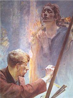 Jacek Malczewski (Polish: 1858-1929) - Artist andMuse