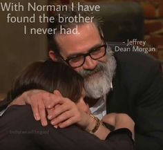 That is absolutely adorable! Jeffery Dean Morgan & Norman Reedus