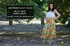 Mothers Day Maternity Sale going on now at Heritwine Maternity Boutique. Get 20% off your entire order.