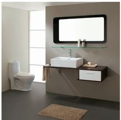 "Moderno Modern Bathroom Vanity Set 43"""