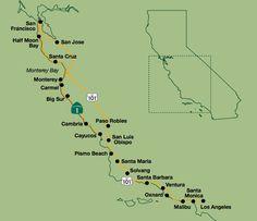 Central Coast Outdoors of San Luis Obispo, California Trip Map