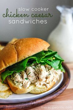 The Recipe Critic: Slow Cooker Chicken Caesar Sandwiches