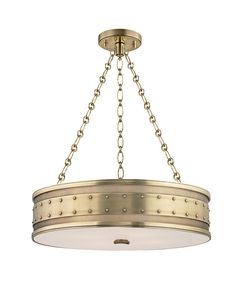 Hudson Valley 2222-AGB Gaines Large Pendant | Capitol Lighting 1800lighting.com