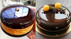 Naučte sa, ako pripraviť luxusnú zrkadlovú polevu v akejkoľvek farbe, aká sa vám páči. Je to jednoduché a vyzerá to nádherne. Mirror Glaze Recipe, Mirror Glaze Cake, Best Chocolate, Chocolate Recipes, Chocolate Art, Sweet Recipes, Cake Recipes, Chocolate Mirror Glaze, Chocolate Mousse Cake Filling