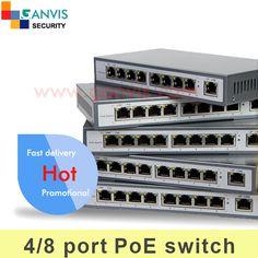 switch POE sieť pre PoE IP CCTV použitie fotoaparátu, IEEE802.3af štandardné High-end model, 4-kanálového 8ch pre voliteľný GANVIS GV-PoE404 (808)