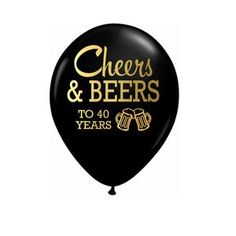 40th Birthday Party Decor Cheers to 40 Years Birthday   Etsy 60th Birthday Balloons, 60th Birthday Decorations, 30th Birthday Parties, Husband 30th Birthday, Birthday Ideas, Surprise Birthday, Birthday Images, Cheers And Beers To 40 Years, Latex Balloons