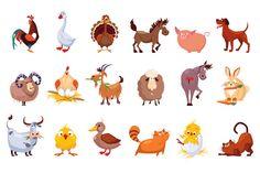 Farm Animal and Birds by TopVectors on @creativemarket