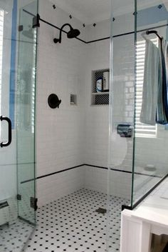 Fresh Glass Tile Shower Design