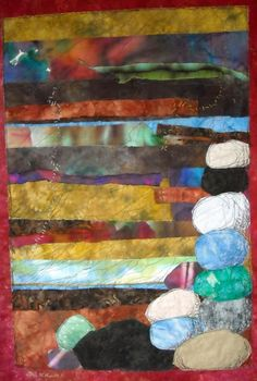"""I like the use of fine stitching over blurry fabrics """"They keep turning"""" by Lori McCown #finecraft"""