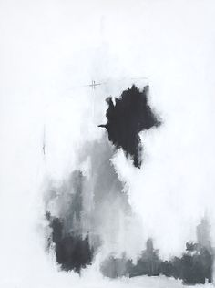 """Black and White Abstract Art - """"And Falter"""" by Ashley Hizer. Find this painting and other artwork at ashleyhizer.com"""