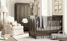 Neutral Colors, good for boy or girl, could add color with inexpensive things