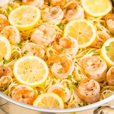 This is the kind of recipe my family loves. Buttery noodles with juicy plump shrimp and flavored with lemon and garlic. It's the kind of recipe I love because dinner is ready in 15 minutes and it's so easy. Angel hair pasta is great because it cooks so quickly and so do shrimp. Even large shrimp …
