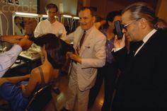 1989 - Karl Lagerfeld & Alexandre de Paris at Chanel Couture Backstage