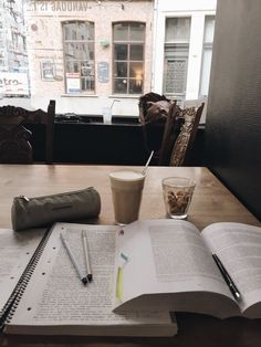 """procrastinationlikeapro: """"A calm study session 3 weeks ago, wish I could go back in time to spend my time more wisely :) but next year there will be new chances Fyi that coffee was so good """" Study Space, Study Desk, Study Areas, Study Organization, Study Pictures, School Study Tips, Study Motivation, College Motivation, Study Hard"""