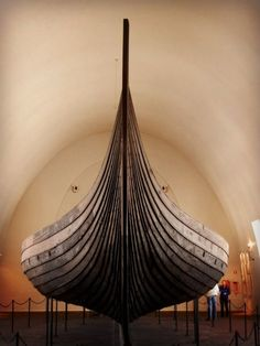 Viking Ship, Oslo. Great craftmanship... The vikingboats were the really fast race boats of the past! And they could even cross against the wind. We have many fine replicas under sail and it is sometimes possible to go for a trip. Roskilde and the one in Oslo in Norge are the best museums to go, If you are into vikingships and their history.