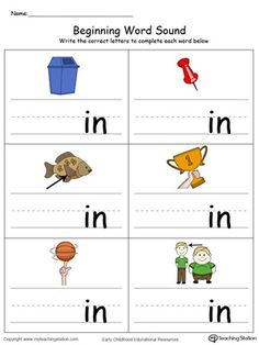 Learn sounds and letters at the beginning of words with this AP Word Family printable worksheet in color. Printable English Worksheets, English Worksheets For Kindergarten, Kindergarten Learning, Phonics Worksheets, Reading Worksheets, Preschool Phonics, Teaching Phonics, Jolly Phonics, Phonics Activities