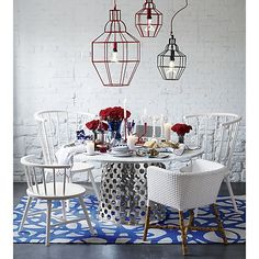 Como White Woven Chair | Crate and Barrel