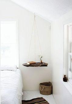 criados mudos criativos para usar na decoração do quarto, criado mudo suspenso