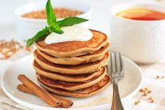 Whole grain multigrain pancakes are both healthy and delicious. Made it with molasses, totally delicious!