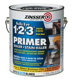 Zinsser Primer- no sanding required. Paint over wood, laquer, plastic, vinyle, tile, ANYTHING! Great stuff.