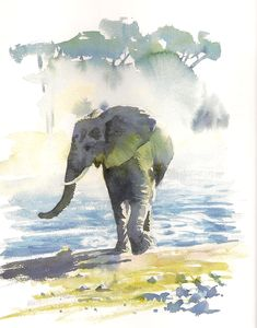 School Days Scrapbook: Hazel Soan's African Watercolours #watercolorarts