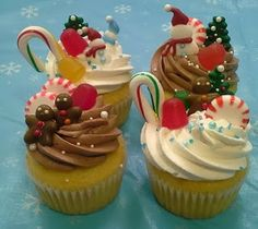 Winter wonderland cupcakes  cute gingerbread and snowman royal icing  decorations