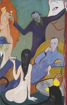 Sanya Kantarovsky The Master is Released, 2015 Sanya, Illustrations, Art And Illustration, Modern Art, Contemporary Art, Futuristic Art, Erotic Art, Figurative Art, Art Inspo
