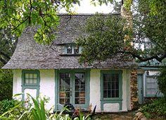 Hugh Comstock's Obers Cottage, Carmel by the Sea has an 'eyebrow' window.