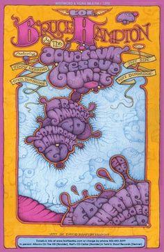 Original concert poster for Col. Bruce Hampton