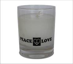 "Vela aromática ""Peace Love""."