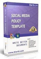 social media policy templates