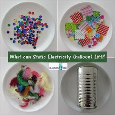 """Exploring Static Electricity: """"Using a Balloon, What Can Static Electricity Lift?"""" (from Learning 4 Kids)"""