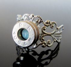 Bullet Ring in Pacific Opal by MySmallEscape on Etsy, $14.50