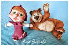 Masha and the bear  - Cake by Kate Plumcake