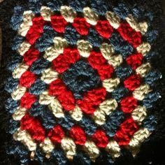 Jubilee inspired crochet square