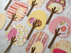 Paper Trees - Friendly Forest Strawberry Lemonade Collection. $12.50, via Etsy.