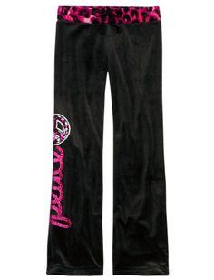Animal Print Waistband Velour Sweatpants | Girls Sweatpants Clearance | Shop Justice